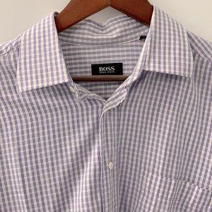Vintage Hugo Boss Dress Shirt Size 17.5.